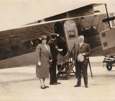 W.N. and Amanda Macqueen London to Paris 1929